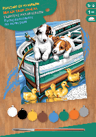 Картина по номерам Sequin Art PAINTING BY NUMBERS JUNIOR Puppies and Ducks