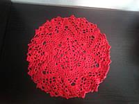 Салфетка красная D=23.5 см