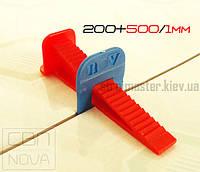 Комплект СВП NOVA 200+500/1мм PRO Система выравнивания плитки НОВА