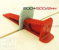 Комплект СВП NOVA 200+500/2мм PRO Система выравнивания плитки НОВА