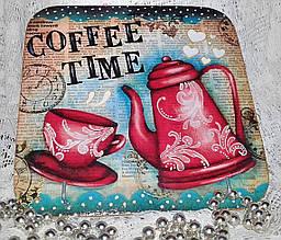 Ключница настенная декоративная на стену Coffee time 18,5*18,5 см
