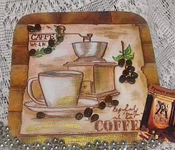 Ключница настенная декоративная на стену Время для кофе 18,5*18,5 см