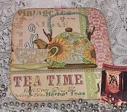 Ключница настенная декоративная на стену Время для чая 18,5*18,5 см