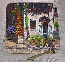 Ключница настенная декоративная на стену Дом мечты 18,5*18,5 см