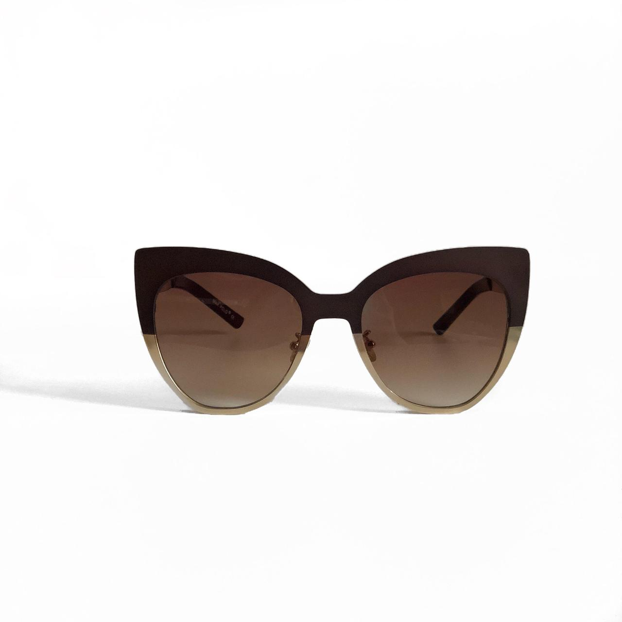 Женские солнцезащитные очки MAX POLO в двухцветной оправе