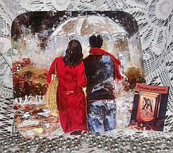 Ключница настенная декоративная на стену Любовь под дождем 18,5*18,5 см