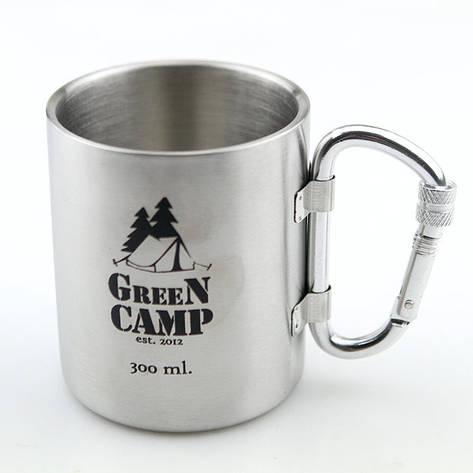 Термокружка GreenCamp, ручка-карабин, 300мл, фото 2