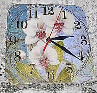 Часы интерьерные Букет орхидей