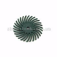 Диск-щетка пластиковый радиальный 25 мм P  80 (зеленый)