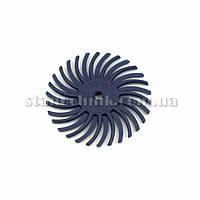 Диск-щетка пластиковый радиальный 25 мм P 120 (синий)
