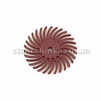 Диск-щетка пластиковый радиальный 25 мм P 220 (красный)