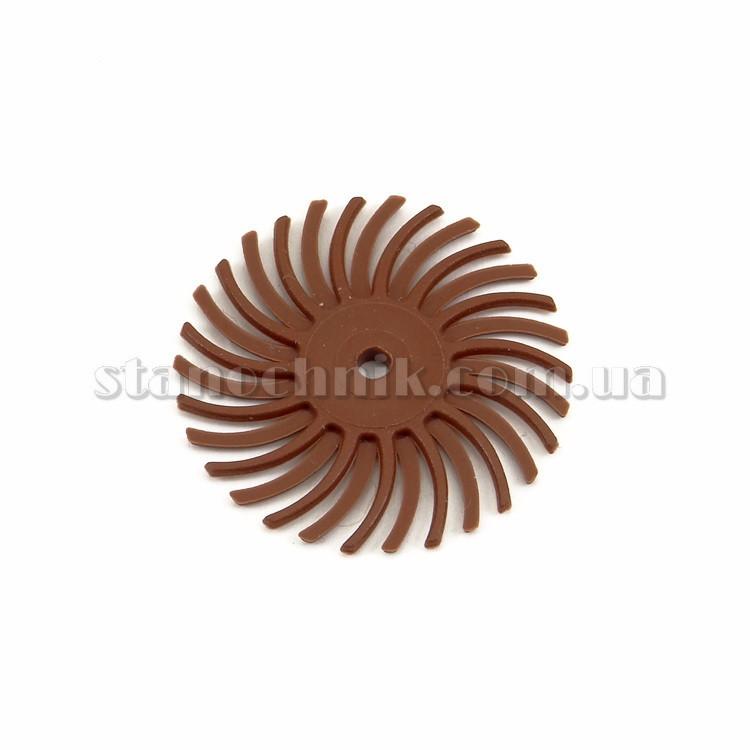 Диск-щетка пластиковый радиальный 25 мм P 320 (коричневый)
