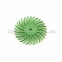 Диск-щетка пластиковый радиальный 25 мм P1000 (салатовый)