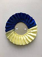 Розетка под значок СИНЕ-ЖЕЛТАЯ арт-2, фото 1