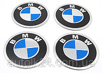 Наклейки на колпаки и колпачки BMW 65мм металл