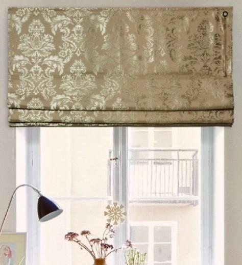 Римская штора, ткань портьера-вензель