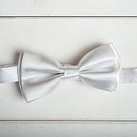 Белая Галстук-бабочка для жениха или свидетеля (арт. GB-1)