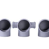 Колено с отводом (лев) 90° 50х110х110
