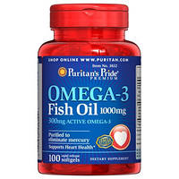 Puritan's Pride Omega 3 100 капсул