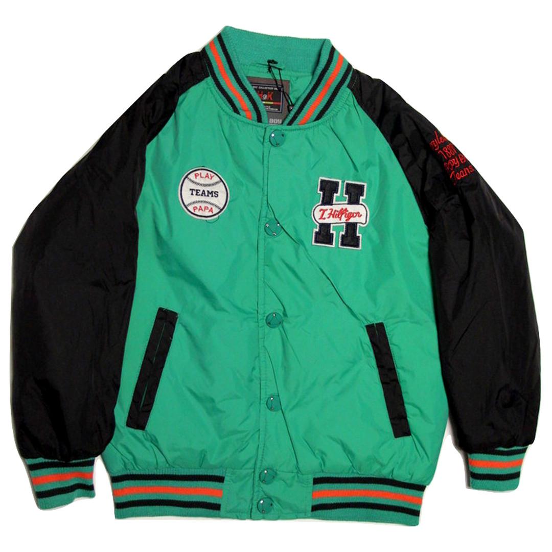 Куртка-бомбер демисезонная для мальчика  7-8 лет зеленая