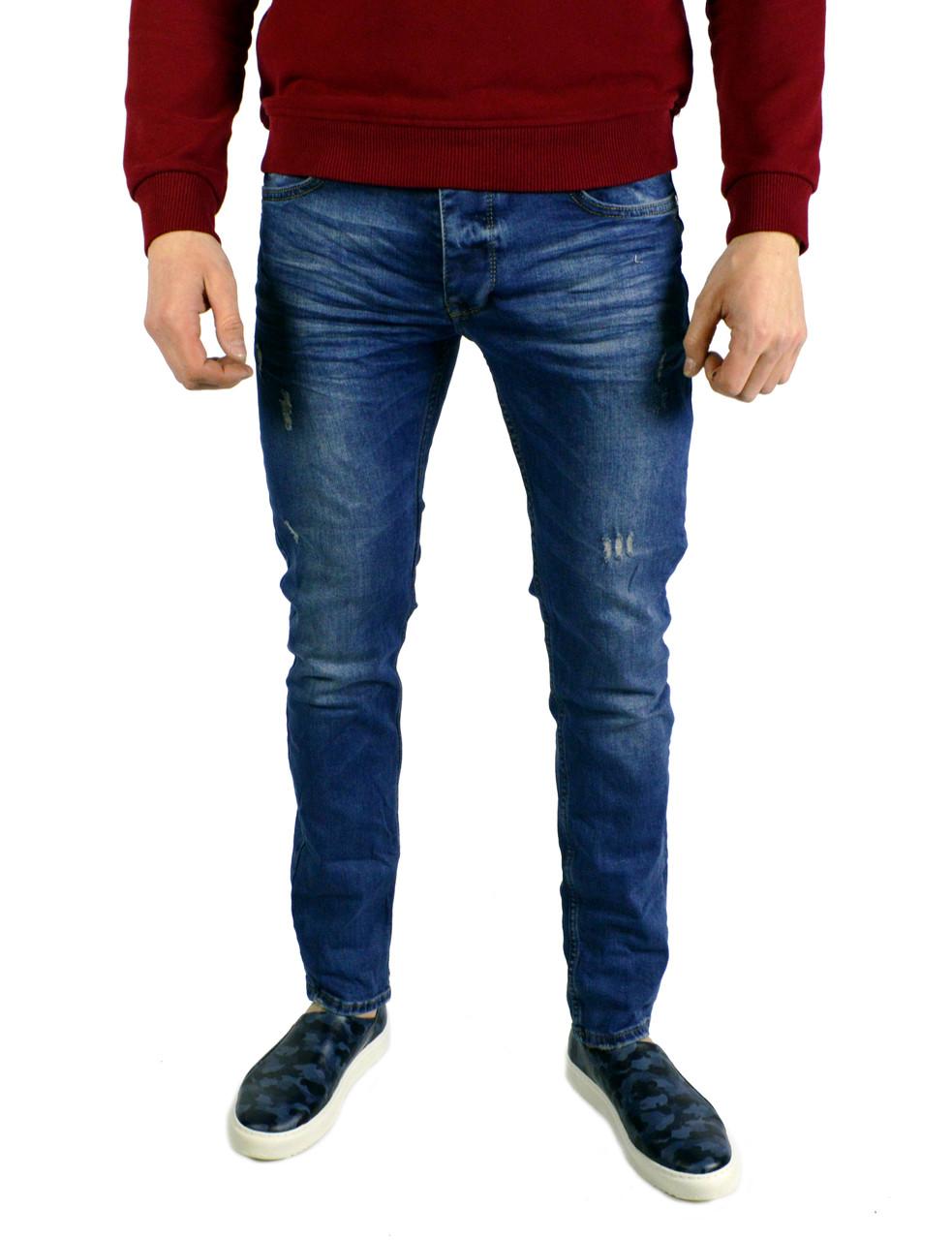 2ff54d65f27 Синие мужские джинсы зауженные FENDI 36 -
