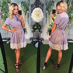 Сукня сорочка+гепюр