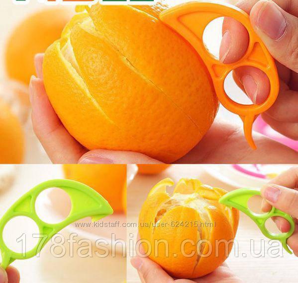 Уникальное приспособление для чистки апельсина, коралловый