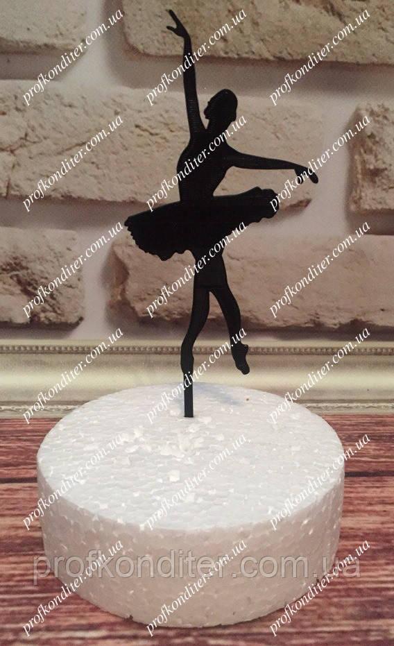 Пластиковый топер Балерина №2