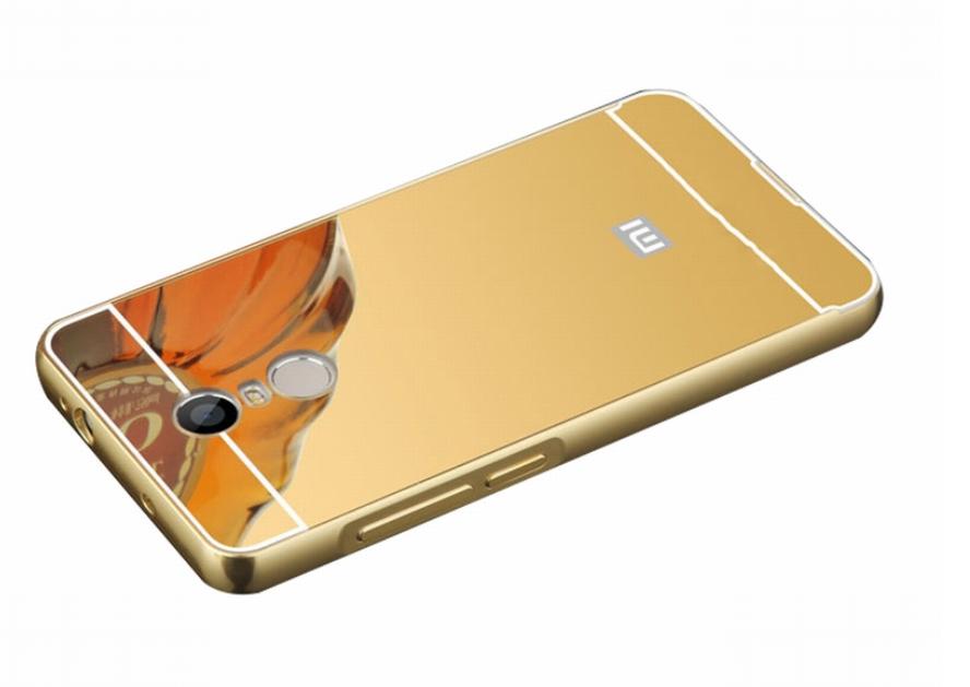 """Зеркальный чехол для Xiaomi Redmi 5 / 5,7"""" / Стекла в наличии / Золотой"""