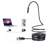 Эндоскоп улучшенный водонепроницаемый USB/miсroUSB. Диаметр 5,5мм. Длина от 1м до 5м, фото 1