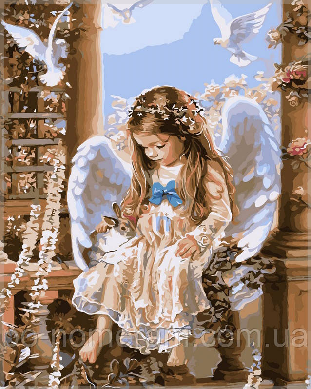 Картина по номерам девочка ангел