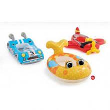 Детский надувной плотик в 3х вариантах,  Intex 59380