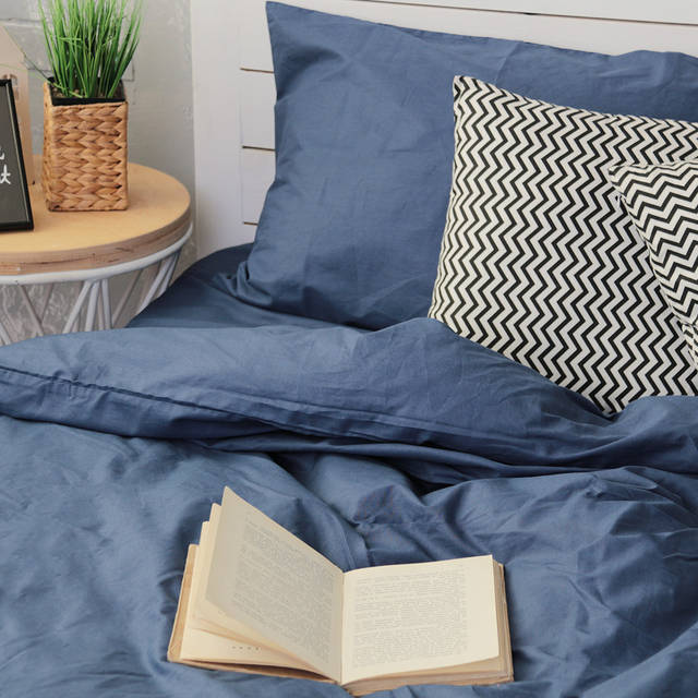 Двуспальный комплект постельного белья из поплина