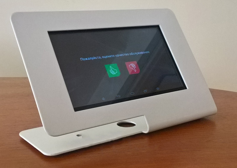 Система оценки качества обслуживания клиентов Digital signage