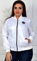 Бомбер - плащёвка женский в большом размере, фото 1