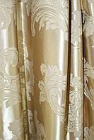 Шторы ткань в спальню золотая корона глянец