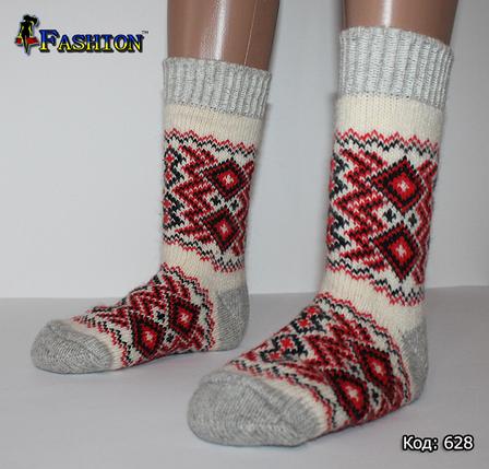 Жіночі шерстяні шкарпетки Зимове диво, фото 2
