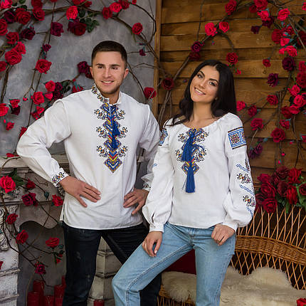 Вышиванки для пары на домотканом полотне Судьба, фото 2