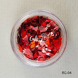 Пайетки ромбы для дизайна ногтей (красный), RG-04