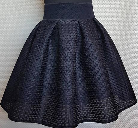 Подростковая темно- синяя юбка в школу  р 146-164, фото 2
