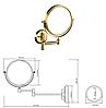 BEMETA RETRO: Косметическое резкало золото, фото 2