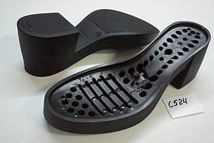 Подошва для обуви С524 черная р,36-41, фото 2