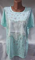 Женская футболка лето 1781 батал Фабричный Китай оптом