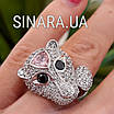 Серебряное кольцо Пантера - Розовая Пантера кольцо серебро, фото 7