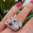 Серебряное кольцо Пантера - Розовая Пантера кольцо серебро, фото 3