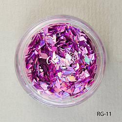 Пайетки ромбы для дизайна ногтей (розовый), RG-11