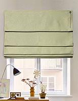 Римская штора, ткань блэкаут с рисунком