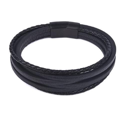 Мужской кожаный браслет Primo Rope Style с магнитной застежкой