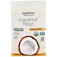 Nutiva, Органическая кокосовая мука, нерафинированная (454 г)