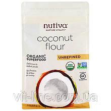 Nutiva, Органічна кокосова борошно, нерафінована (454 г)
